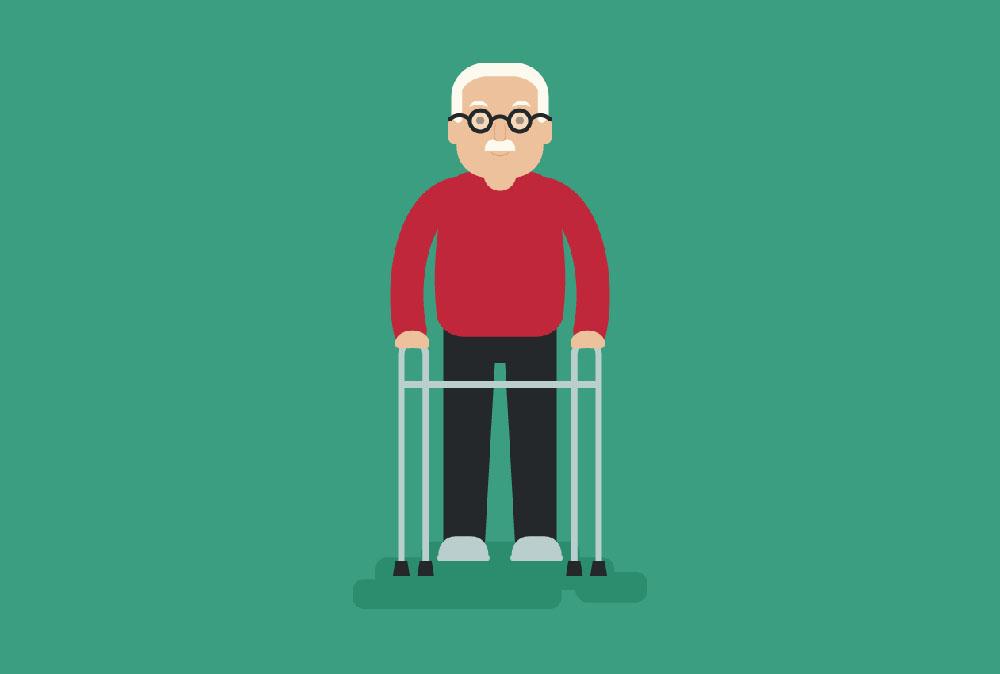 مراقبت از سالمندی که با واکر راه می رود با چه مشکلاتی مواجه است؟